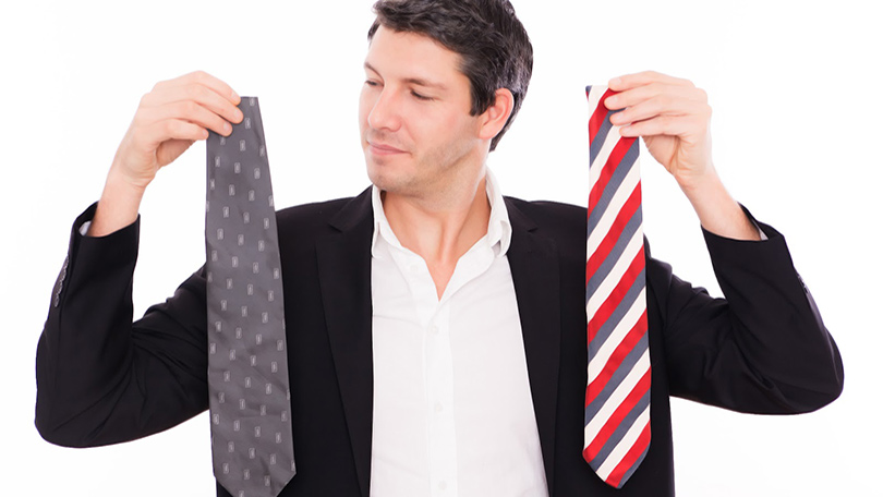 Choosing the right tie for interview